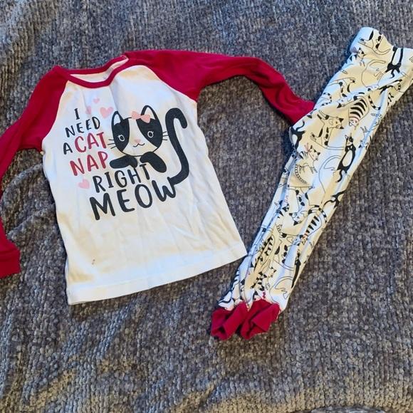 Wonder Nation Toddler Girl Cat Pajamas